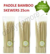 Bamboo Catering Paddle Skewers Sticks BBQ Grill Cocktail Picnic Party Kebab 25cm