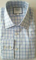 Charles Tyrwhitt Sky Blue/White Dress Shirt Extra Slim Fit Sz 15 Neck 32 Sleeve