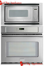 "Bundle – Frigidaire Pro 27"" Stainless Steel Electric Wall Oven Microwave Combo"