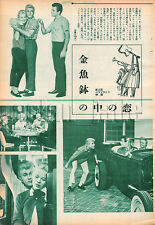 1961, Tommy Sands , LOVE IN A GOLDFISH BOWL Japan Vintage Clippings 3sc10