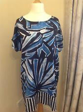 Luisa Perla Womans Blue Tunic. Size 18. New with tags.