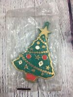 Vtg Hallmark Painted Christmas Tree Cookie Cutter Ornament - Sealed Plastic