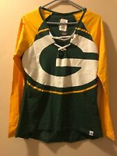 Womens Majestic NWT Medium Green Bay Packers Long Sleeve Shirt
