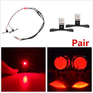 2X Car LED Devil Demon Red Eye Light Ring For Projector Lens Headlights Retrofit