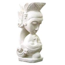 Intimate Hand Carved Sandstone Sculpture Bali Art