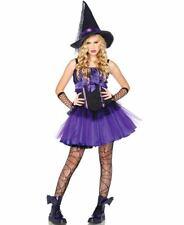 Purple Witch Costume Age 10-12 Hat and Dress TuTu