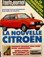 L'AUTO JOURNAL-N°18-1981-CITROEN-RENAULT 30 TURBO DIESEL-OPEL ASCONA 1.6S-