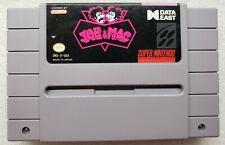 Joe & Mac Super Nintendo SNES Cleaned and Tested Includes Manual