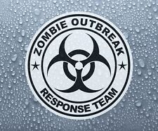Zombie Outbreak Biohazard printed self-adhesive sticker decal #1 - PRNT1041