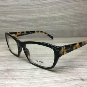 Prada VPR18O Eyeglasses Black Tortoise NAI-1O1 Authentic 54mm