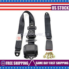3 Point Safety Seat Belt Straps Heavy Duty Car Truck Adjustable Retractable