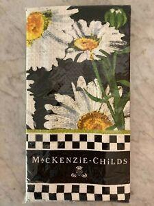 Mackenzie-Childs Daisy  Black Dish Towel NEW! Waffle Weave