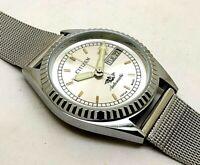 citizen automatic men's steel japan made wrist watch good running condition