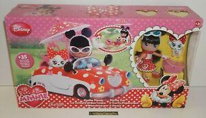 """++ jouet """" I love MINNIE """" la voiture pique-nique / disney FAMOSA 2012 NEUF ++"""