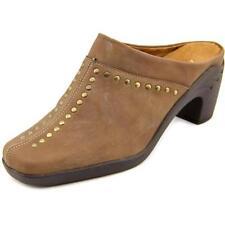 Escarpins mules marrons pour femme
