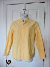 Lands' End Canvas Button DOWN COLLAR Shirt Men's sz M 100% Cotton YELLOW BEACHY