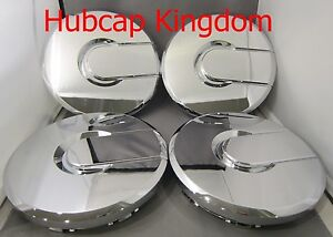 "NEW CHROME 2003-2008 HUMMER 2 H2 17"" Wheel Center Hub Cap Hubcap SET"