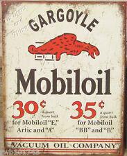 Gargoyle Mobiloil TIN SIGN metal vtg oil ad garage gas station wall decor 1897