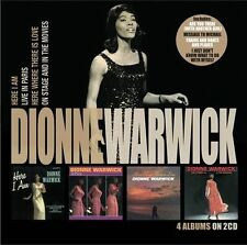 Here I Am/Live In Paris/Here Where There Is Love/On Stage Dionne Warwick NEW CD