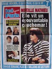 MIREILLE MATHIEU POSTER AFFICHE PROMO ICI PARIS