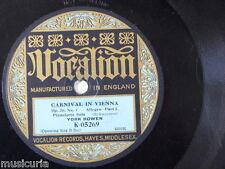 "78rpm 12"" YORK BOWEN schumann carnival vienna op.26/1 VOCALION K 05269"