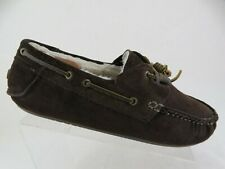 CLARKS Suede Lined Brown Sz 10 M Men Slippers