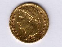 France:KM-695.1,20 Francs, 1813 A * GOLD * Napoleon * VF *