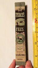 Vtg W. Tyzack & Sons Turner Sheffield London Elephant Files Tools Original Box