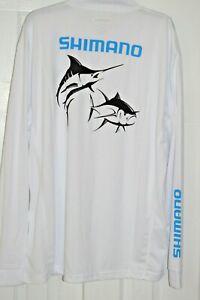 shimano marlin tuna technical shirt long sleeve martun tee upf35 white xxl 2xl