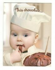 ADORABLE BABY CHEF CHOCOLATE Leanin' Tree Birthday Greeting Card Envelope MG2