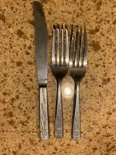 Hopalong Cassidy Stainless Steel Flatware Vintage 1950's Lot of 3 Pieces