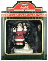 Vintage 1996 Christmas Coke Coca Cola Town Square Collection Santa Claus Give