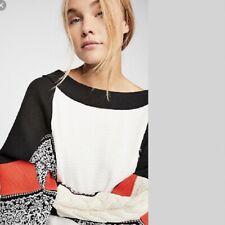 People Josie Patterned Swit Thermal Top Ivory XLarge XL OB871738