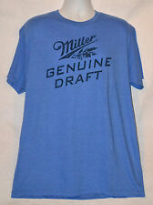 Miller Genuine Draft T-shirt Graphic Tee Heather Blue XL NWT