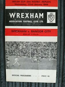 68/9 Wrexham vs Bangor City (Welsh Cup 5th Round Replay)