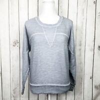 IRO Jeans GEANNE Women's Crew Pullover Sweater Grayish Blue Size XS Cotton