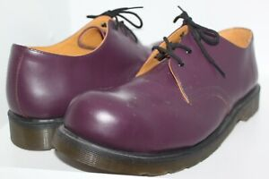 NEW MENS DR. DOC MARTENS AIRWAIR PURPLE LEATHER LACE UP STEEL TOE SHOES 14 U.S.