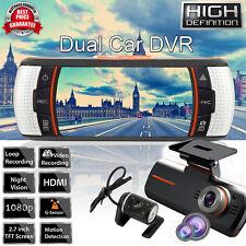 2.7'' 1080P HD Dual Lens Car Dash Cams Camera DVR Night Vision Recorder G-Sensor