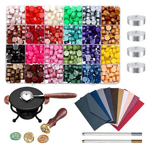 Wax Sealing Beads Kit for Wedding DIY Scrapbooking Craft Projects Seal