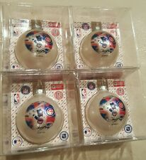 """New! (4) Chicago Cubs """"Sammy Sosa"""" Glass Christmas Ornaments by Topperscot"""
