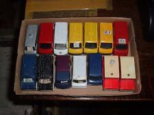 A JOB LOT OF 14 MATCHBOX & OTHER MAKES VANS IN USED CON'D VINTAGE C PICS