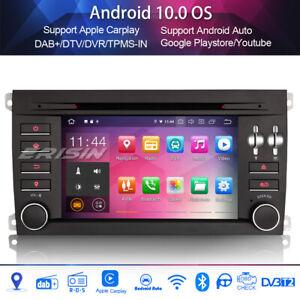 Android 10.0 car radio carplay dab + bluetooth wifi for porsche cayenne canbus dvb