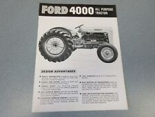 Ford 4000 Tractor Brochure   1963         lw