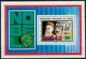 Nobel Peace, Red Cross, Henry Dunant, Congo 1978 MNH MS