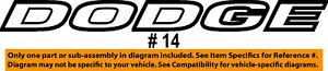 Dodge Grand Caravan Front Door Emblem Nameplate Chrome LH Side new OEM 5113300AA