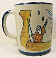 Louisville Stoneware Mug Cup Noah Ark Animals Made in Kentucky USA