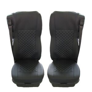 DAF XF / CF 106 euro 6 Truck Seat Covers Eco Leather blue thread