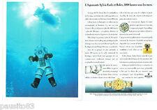 PUBLICITE ADVERTISING 125  1993  ROLEX  montre DATEJUST CHRONO (2p) SYLVIA EARLE