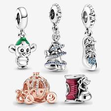 Original Disney 925 Sterling Silver Cinderella Mouse Charm Fiit Pandora Gift New