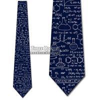 Chemistry Equations Tie Men's Science Navy Neck Ties Brand New